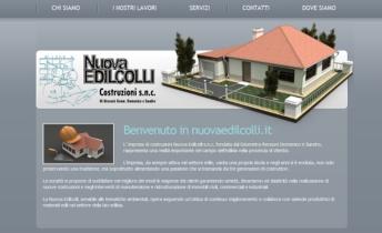 Una vista dellhome page del sito aziendale nuovaedlicolli.it